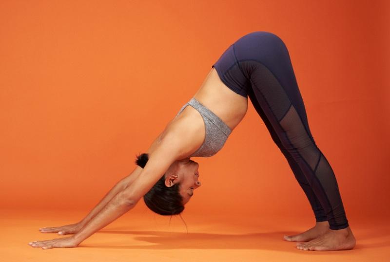 Downward Facing Dog yoga pose for bigger butt